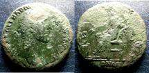 Ancient Coins - 96-138 AD AE SESTERTIUS ANTONINUS PIUS ROUGH SURFACES, RV MAY BE RARE