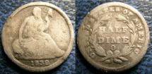 Us Coins - SEATED LIBERTY HALF DIME 1838-O G-4 EDGE DAMAGE,  SCARCE