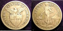 World Coins - Philippines 50 Centavos 1918-S (Inverted) VF