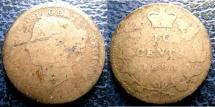 World Coins - CANADA 1883-H TEN CENTS KM#3 G/AG