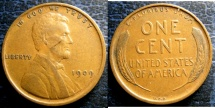 Us Coins - LINCOLN CENT 1909-VDB EF