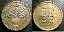 Us Coins - Hard Times Token - Boston MA 1835 Alfred D Willard, AU/Unc.