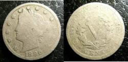 Us Coins - LIberty Nickel 1896  G-4