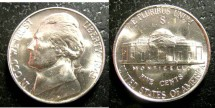 Us Coins - Jefferson Nickel 1942-S  MS-63,  Silver War Nickel