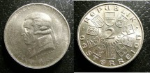 World Coins - Austria 2 Schilling 1932 Joseph Haydn BU. Scarce