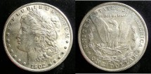 Us Coins - MORGAN DOLLAR 1902-O MS-63