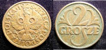 World Coins - Poland 2 Grosze 1928 A.EF