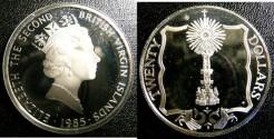 World Coins - BRITISH VIRGIN ISLANDS TWENTY DOLLARS 1985 GOLD MONSTANCE WITHIN SQUARE  PROOF,.925 SILVER