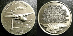 Us Coins - AR Medal 1935 China Clipper, Longines Symphonette, .925 Silver