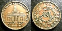 Us Coins - Hard Times Token (1837) Merchants Exchange, EF