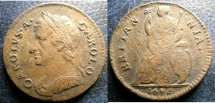 World Coins - ENGLAND 1674 FARTHING CHARLES II, S#3394 VF SOME POROSITY