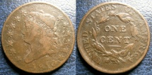Us Coins - LARGE CENT 1810 F/VF STRUCK ON BAD PLANCHET