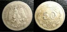 World Coins - Mexico  50 Centavos 1921  VF