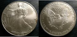 Us Coins - SILVER EAGLE 2005  BU/UNC; .999 SILVER, 1 OZ. ASW