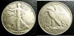 Us Coins - Walking Liberty 1/2 Dollar 1944 EF-40, .900 Silver