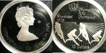 World Coins - Canada $10.00 1976 Field Hockey Proof, .925 Silver
