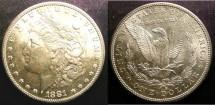 Us Coins - MORGAN DOLLAR 1881-S MS-63