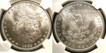 Us Coins - MORGAN DOLLAR 1884-O NGC MS-63