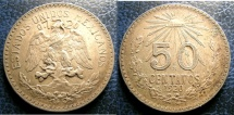 World Coins - MEXICO 50 CENTAVOS 1920 KM#447 EF