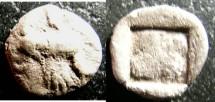 Ancient Coins - Thrace- Abdera  AR Obol 500-400 BC cr. Fine Rarity 5