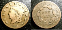 Us Coins - Large Cent 1831 F-12