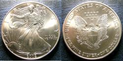 Us Coins - SILVER EAGLE 2002  BU/UNC; .999 SILVER, 1 OZ. ASW