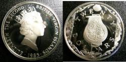 World Coins - BRITISH VIRGIN ISLANDS TWENTY DOLLARS 1985 PERFUME BOTTLE  PROOF,.925 SILVER