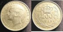 World Coins - Portugal 200 Reis 1909 EF