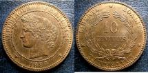 World Coins - FRANCE 1884-A TEN CENTIMES KM#815.1 R& B UNC;
