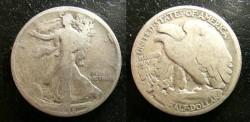 Us Coins - Walking Liberty 1/2 Dollar 1918-D  G-4