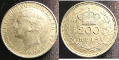 World Coins - Portugal 200 Reis 1909 EF