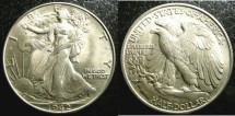 Us Coins - Walking Liberty 1/2 Dollar 1942  MS-64, .900 Silver