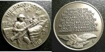 Us Coins - AR Medal 1918 Patriotic Dough Boys, Longines Symphonette, .925 Silver