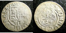 World Coins - Poland- Elbing Under Swedish Authority  1/24 Thaler 1633 Gustav Adolph II, F/VF areas of weakness