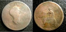 World Coins - England  1/2 Penny 1806 Fair