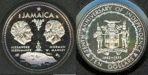 World Coins - Jamaica 10 Dollars 1972 Proof