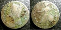 World Coins - England  1/2 Penny 1739 S#3717  Fine