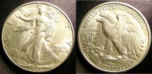 Us Coins - Walking Liberty 1/2 Dollar 1946-D  Au/Unc
