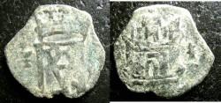 World Coins - Spain  Blanca 1556 VF