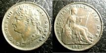 World Coins - England  Farthing 1825  EF