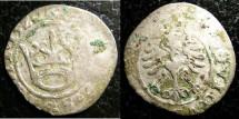 World Coins - Poland 1/2 Groschen 1520 F+