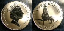 World Coins - AUSTRALIA 1996 SILVER KANGAROO W/BOX & COA ROYAL MINT