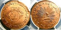 World Coins - MEXICO- CHIHUAHUA REVOLUTION 5 CENTAVOS 1914 KM#613  PCGS MS64RB