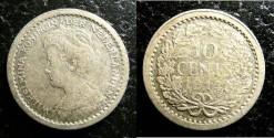 World Coins - Netherlands 10 Cents 1914 VF