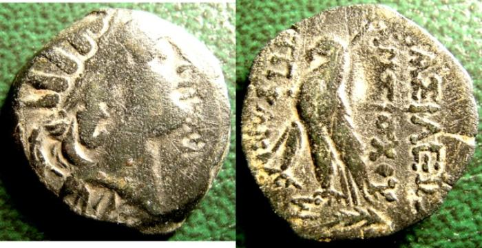 Ancient Coins - PTOLEMAIC KINGDOM- EGYPT AE 17.1-17.3 MM ANTIOCHUS VI, SON OF CLEOPATRA THEA