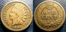 Us Coins - INDIAN CENT 1864 C/N F-12