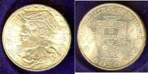 World Coins - Portugal  50 Escudos Nd 1969 Bu/Unc; .650 Silver