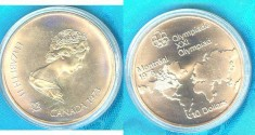 World Coins - Canada  $10.00 1973 Map of World, Bu/Unc. .925 Silver