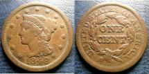 Us Coins - LARGE CENT 1848 VF