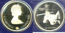 World Coins - Canada $20.00 1986 Biathlon Proof, .925 Silver